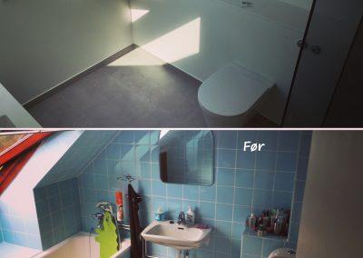 Renovering af badeværelse i rækkehus